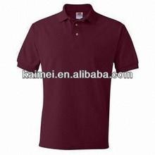 fashion bulk plain t-shirts polo shirts for men