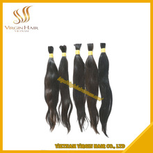 Unprocessed Natural Remy Virgin Hair Vietnam Single Drawn Straight
