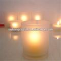 rose vela de vidro titular barato por atacado