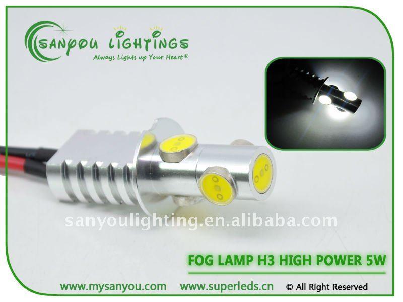 2014 New tuning light car accessory Led Light High power Auto lamp h3 5w fog lamp toyota corolla auto led