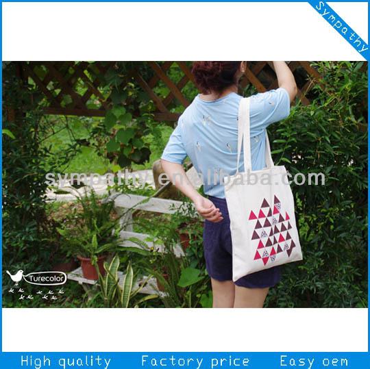 Customized eco cotton bag/canvas tote bag/green fashion shopping bag