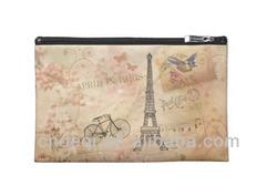 Vintage Eiffel Tower Art Travel Organizer Bag