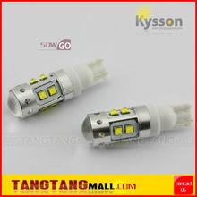 12V 24V white amber yellow red blue H1 H3 880 881 T10 T15 BA9S auto car light 50w t10 led CREE light bulb