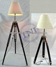 Unique lamp OnWooden Stand, New Designer Floor Long Lamp, Decorative Tripod Lamps