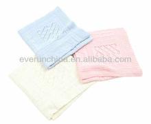 Coperta del bambino 50ci99 100% acrilico patchwork coperta a maglia coperta rosa