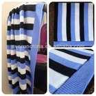 50CI98 baby blanket 100%cotton strip knit blanket white ground blue and black stripe blanket