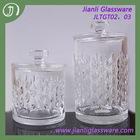 Decorative glass nut jar with lid