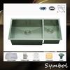 3317 Manufacturer Handmade Symbol Sink Double Bowl High-Quality Undermount Kitchen Sink