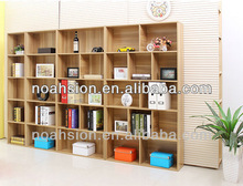 Cheap wooden wall bookcases/bookshelf design