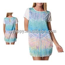 Lift tee dress, women casual clothes 2014 summer trend