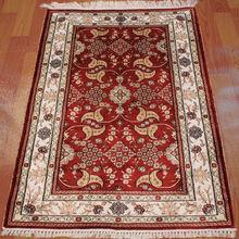 handmade silk 2.5x4 modern design shaggy carpet