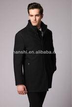 2014 latest Men fox fur collar wool coat