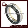 Caldo!!! Vendita calda acciaio chirurgico anello di nozze in acciaio stainelss con placcatura in oro rosa