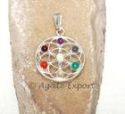 Chakra Mandala Flower Pendant