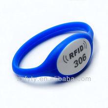 2015 Hot ntag203 woven nfc rfid bracelet for event