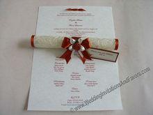 Elegant Scroll Wedding Invitations - Free Shipping Worldwide