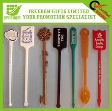 Customized Logo Promotional Plastic Swizzle Stick