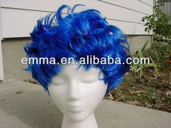 BLUE NEON PUNK halloween WIG W259