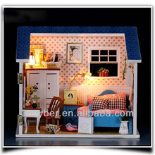 Dream Villa Room Bedroom DIY Wooden Dollhouse Miniature All Furniture Including