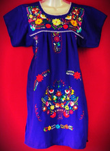 Mexican Hand Embroidered Dress Traditional