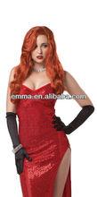 NEW Women Sexy Exotic Jessica Rabbit Movie Star Costume BW772