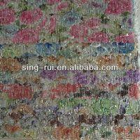 Flower Design Fabric Material for Shoe Upper Making