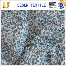Lesen Textile leopard print chiffon fabric 100 polyester
