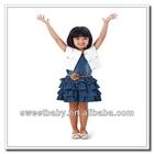 Child Clothes Girls Clothing Sets Summer White Vest & Denim Dress 5sets/lot LT67024