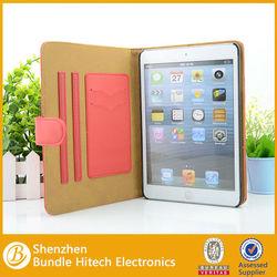Hot selling leather case for ipad mini ,for ipad mini case 2014