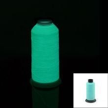 Glow in the dark light-blue thread fiber