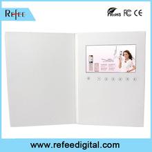 7 inch digital brochure touchscreen optional advertising audio video card