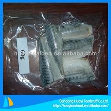 frozen vacuum packed mackerel portion