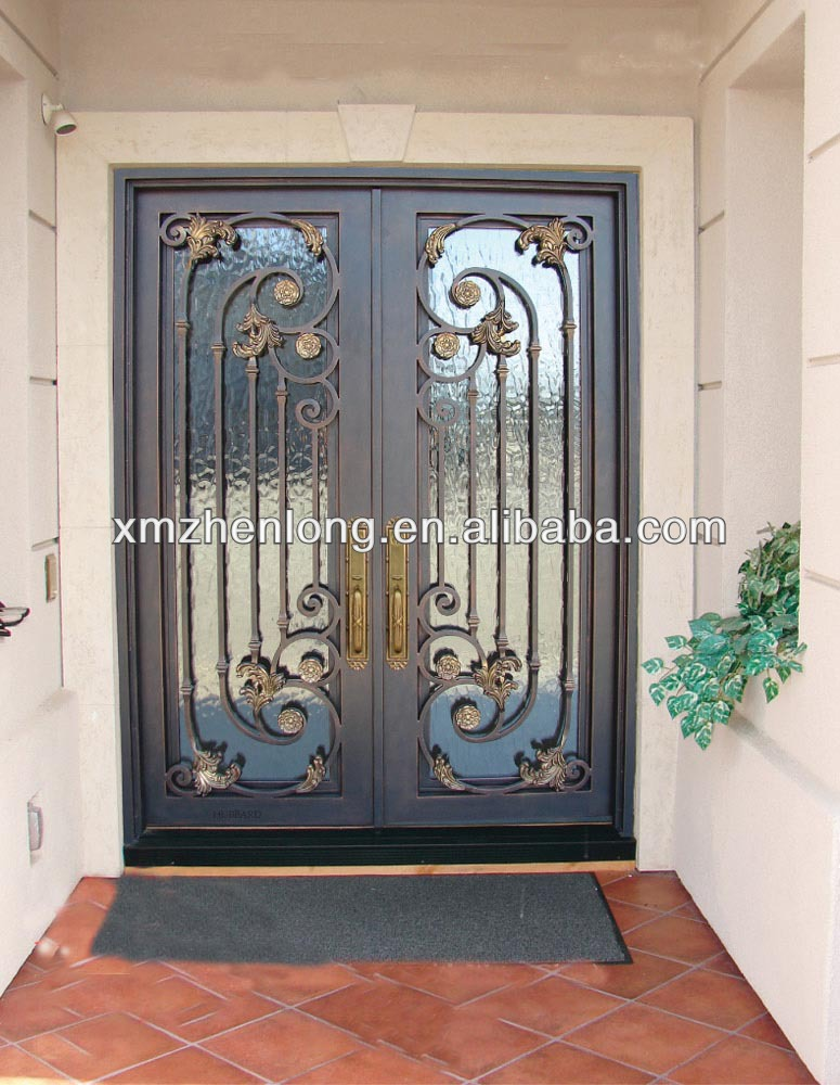Wrought iron door grills designs joy studio design for Door design of iron