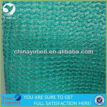 Construction safety net PE net UV resistant green color 1.5 x 6m