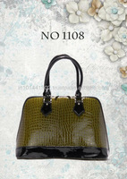 patent leather ladies bag croco texture bag , hotselling product