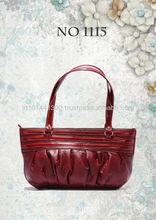 Ladies Bag, leather bag with gathering effect, handbag small bag