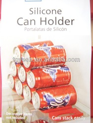 Silicone can holder,Silicone refrigerator can holder, Silicone beer holder