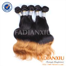 Mix length two tone coloured 1b&colour 6 brazilian virgin hair body wave14 to 24 inch ombre hair