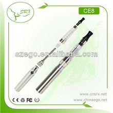 Colorful most popular no wick 2.0ml e-cigarette ego ce8 kit
