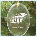artesanal de vidro oval enfeite de formatura da escola para lembranças