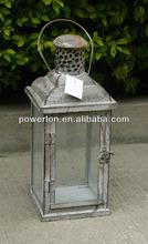 Metal European style hanging candle lantern