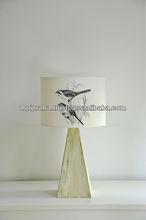 Drum lamp shade - Birds in grass