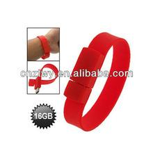 16gb bracelet usb drive, red wristband flash memory