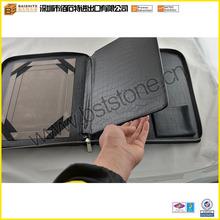 Crocodile Leather iPad Portfolio, Split leather Zipper Briefcase