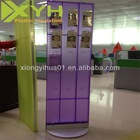 Rotating PMMA Cases & Pouches Floor Standing Display