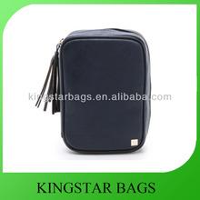 Plain faux leather pouch bag