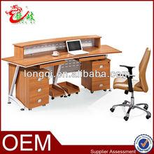 unique popular new design two pedestals modern reception desk M0904