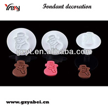 Snowman Cake Decorating Sugarcraft Fondant Plunger Cutters