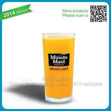 Pasabahce glass minute maid/tang juices/fruit juice glass tang drink glass fancy drinking glass fruit juice glass
