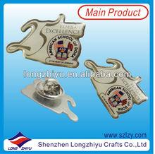 Die Cut Custom Printing Lapel Pin Metal Craft,Printing Metal Badge With Gold Plated Passing Audits